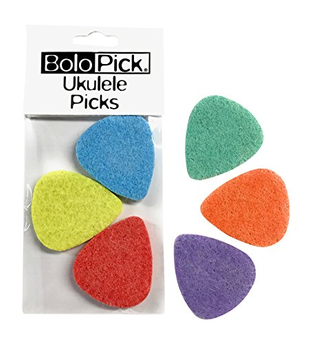 BoloPick Felt Picks for Ukulele 6 Pack (Multi)