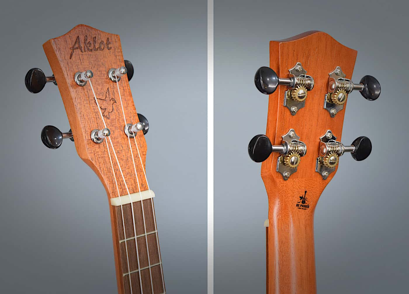 Aklot Ukulele - Headstock and Tuners