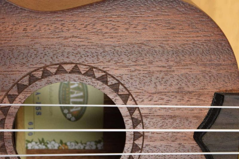 Kala KA-15S rosette and soundhole