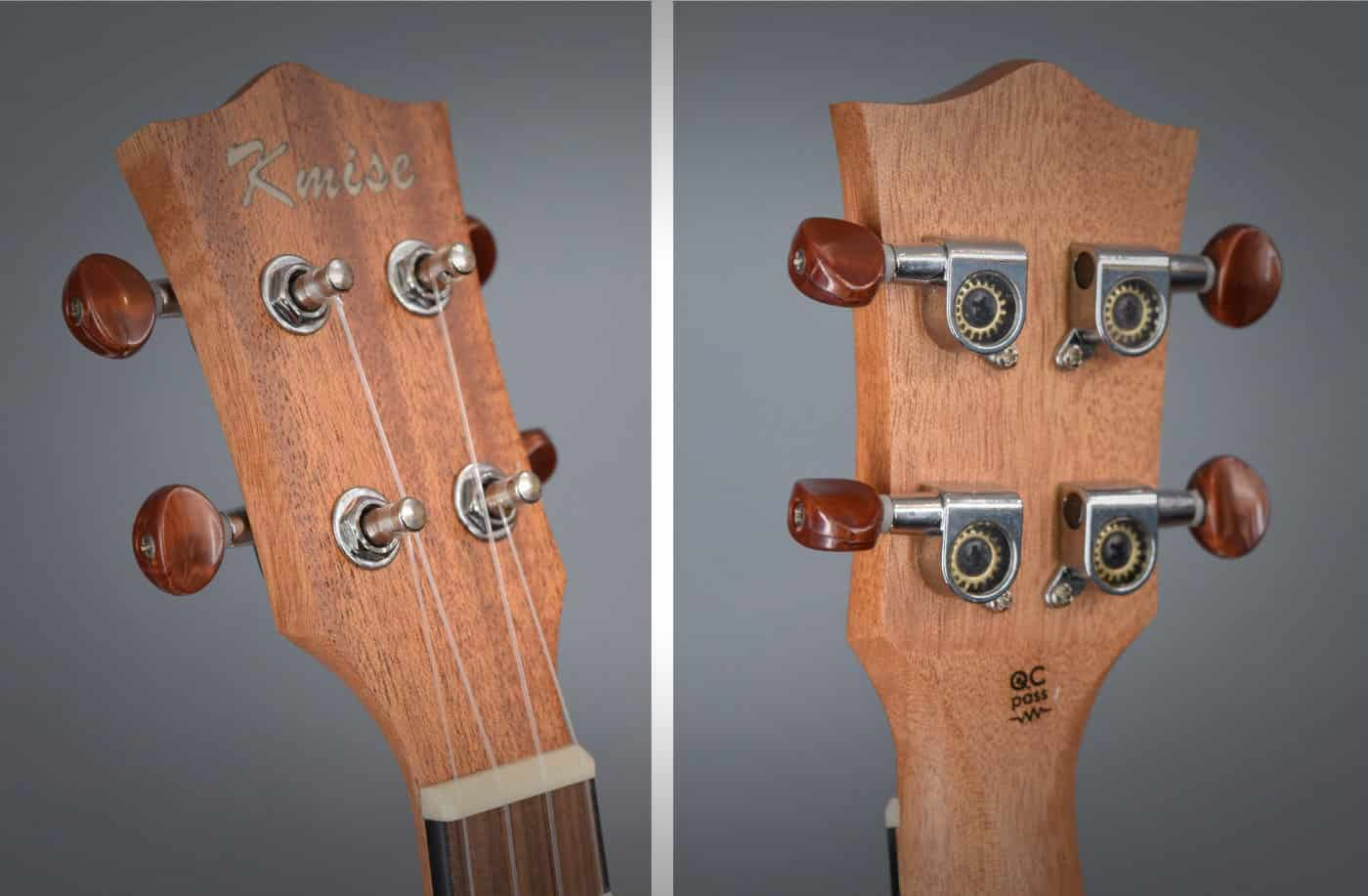 Kmise Ukulele Review - Headstock and Tuners