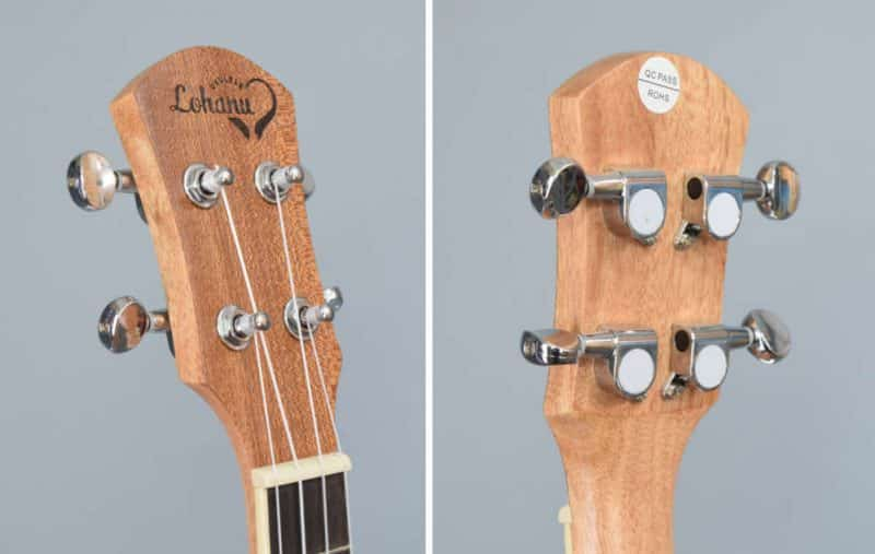 Lohanu headstock - front and back