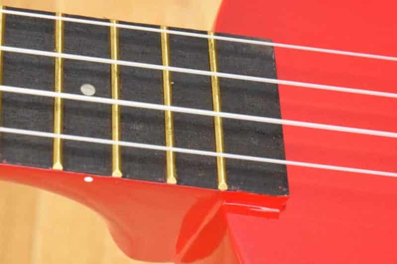 Makala Dolphin Fretboard and Body Close Up