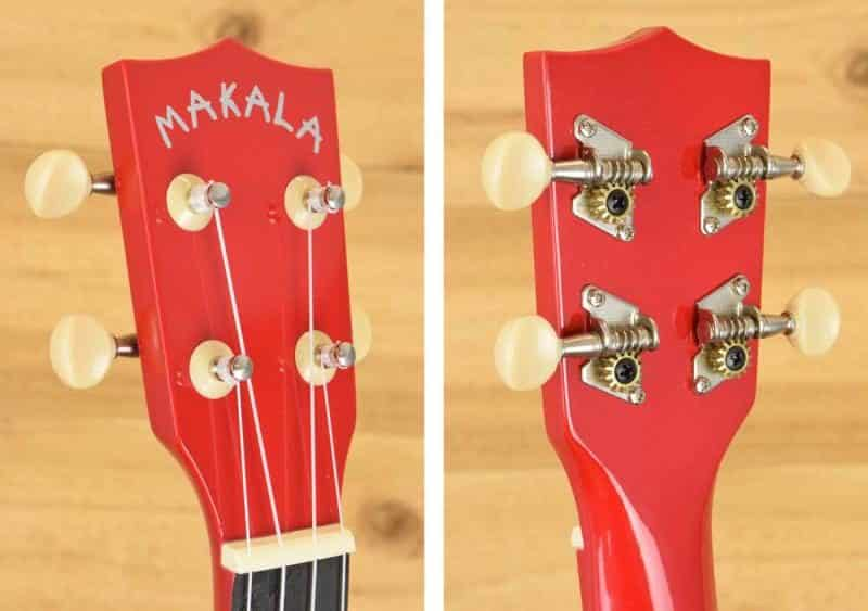 Makala MK-SD Ukulele - Headstock Front and Back