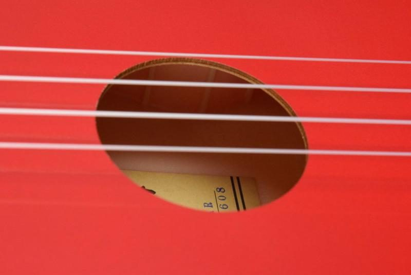 Makala Dolphin MK-SD Ukulele Soundhole Close Up